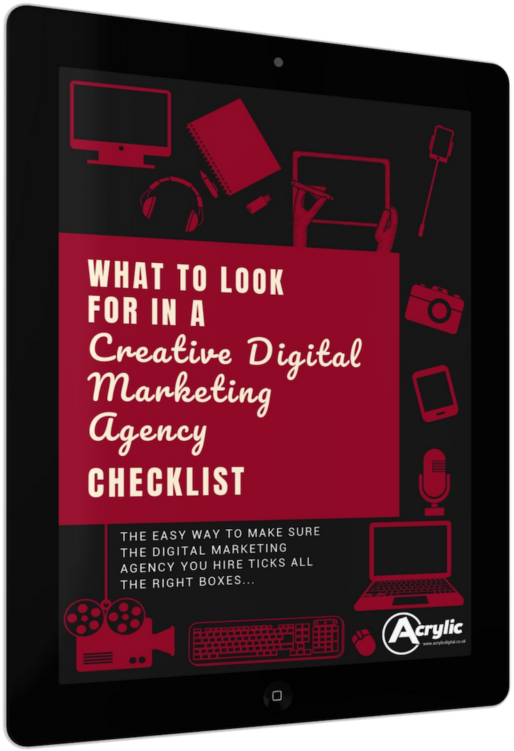 What To Look For In A Creative Digital Marketing Agency - Free Checklist - App Development, Brand Development, Content Marketing, Ghostwriting, Graphic Design, Inbound Marketing Funnels, Email Marketing, PPC, PR, SEO, Social Media Marketing, Video Marketing, And Website Design And Development Services From Acrylic Digital, Your Local Creative Digital Marketing Agency In Northwich, Cheshire